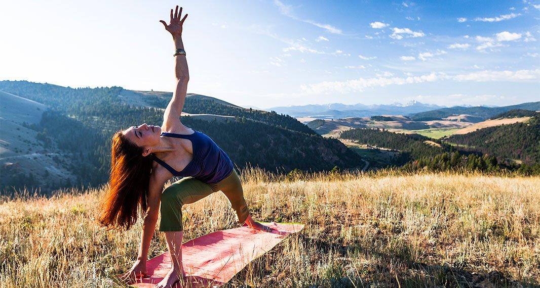 Outdoor yoga, including mountaintop yoga, is a yogis dream com true.