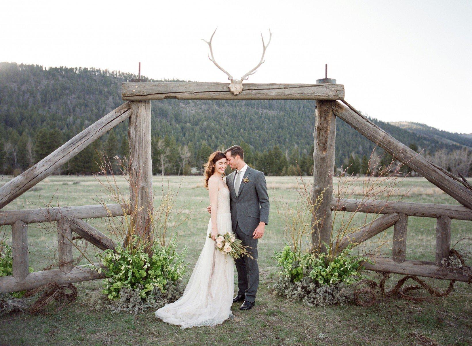 Jose Villa captures a beautiful wedding moment at The Ranch at Rock Creek in Montana