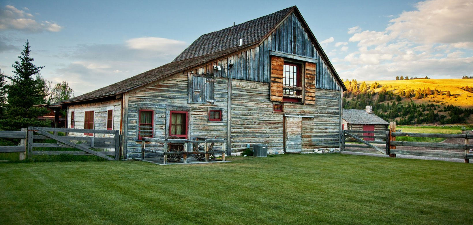 The historic barn features three beautiful, authentic luxury accommodations.
