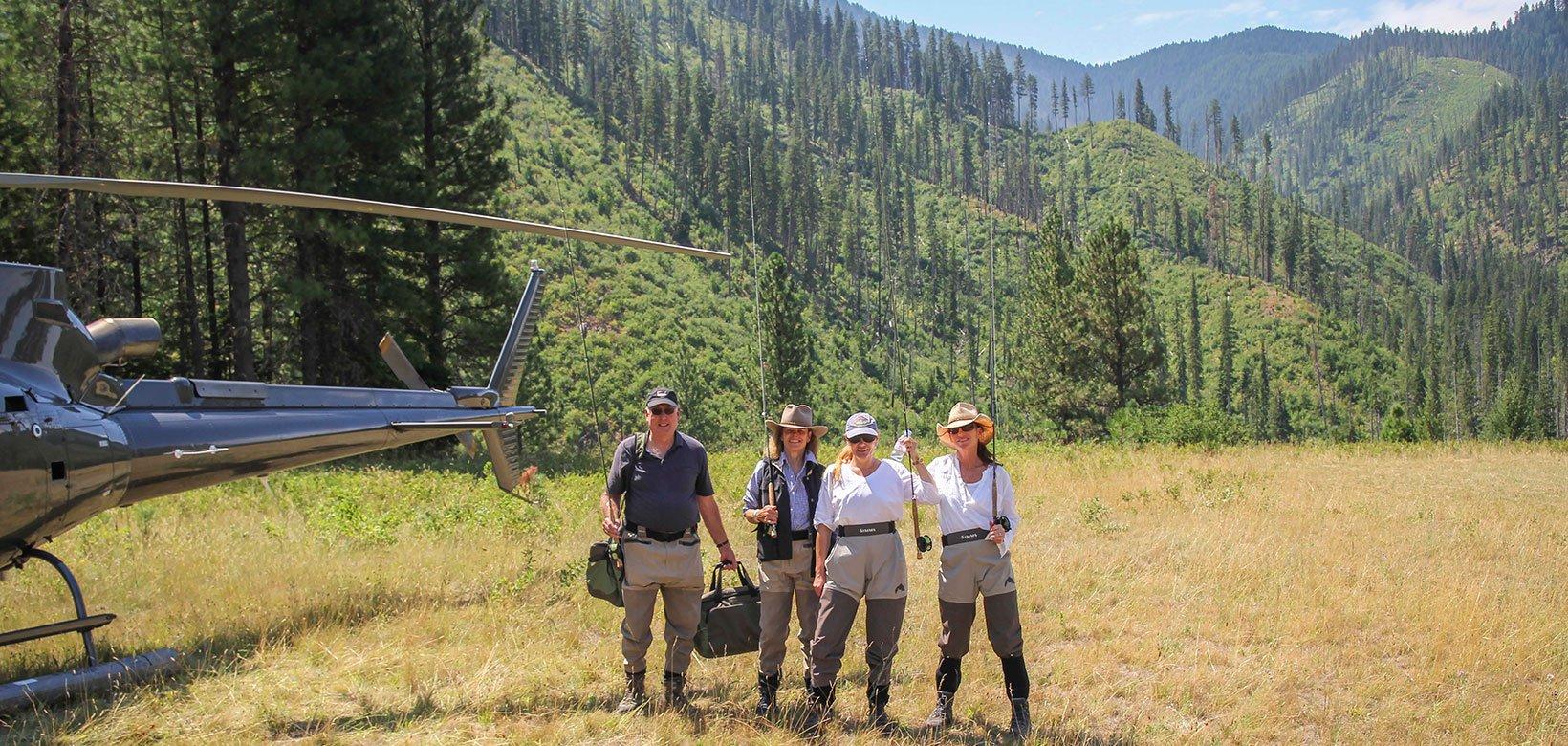 A heli-fishing adventure at The Ranch at Rock Creek