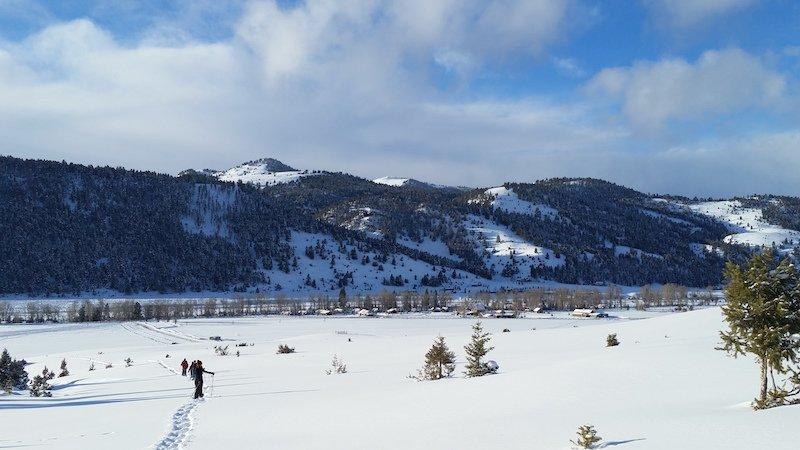 A snowshoe adventure with Elsa Janney a Granite Spa Esthetician
