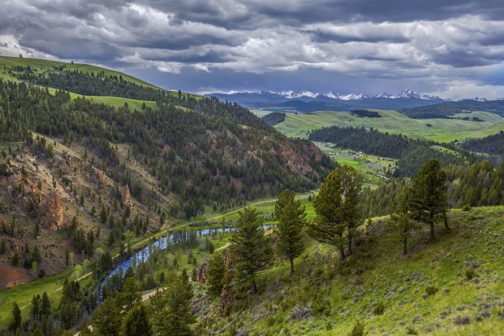 Blue Ribbon Rock Creek runs through the valley at The Ranch at Rock Creek.