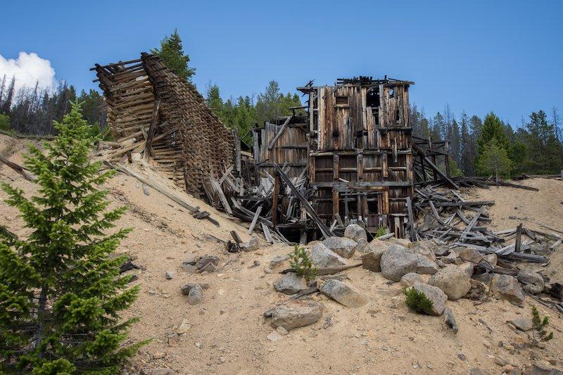 Photographer Benjamin Morgan shows a scene from the Granite Ghost Town near Philipsburg, Montana
