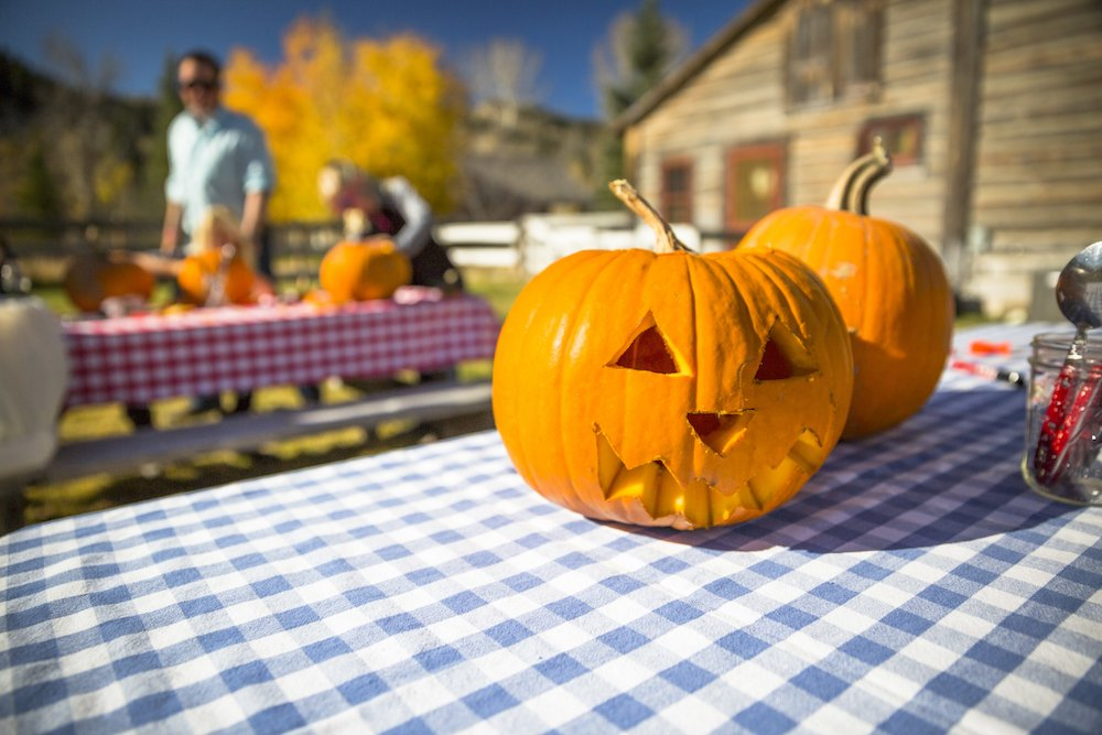 Families who visited The Ranch at Rock Creek for Autumn Harvest Weekend carved pumpkins