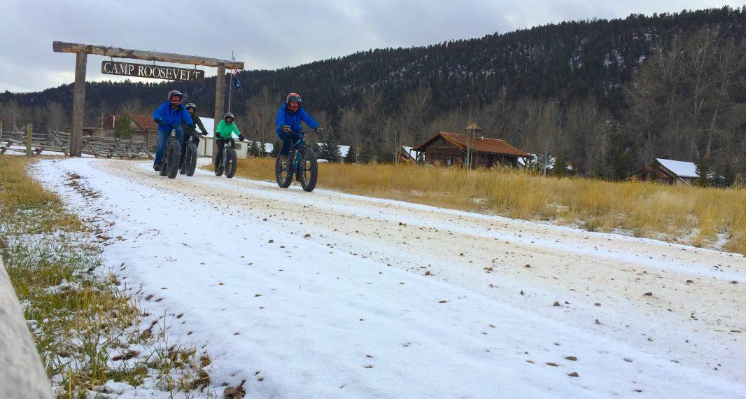 A fat tire biking excursion takes off from the Rod & Gun Club