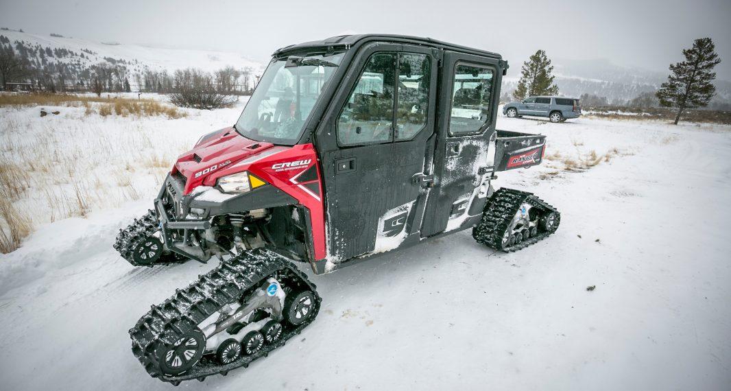 A Ranger UTV sits ready for a Three Peaks Tour around southwest Montana