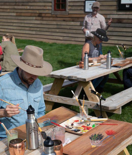 Artist-in-Residence John Piacquadio teaches an en plein air art class at The Ranch