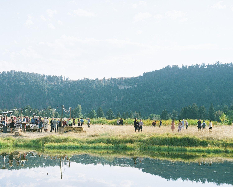 A family reunion destination picnic on Piney Pond