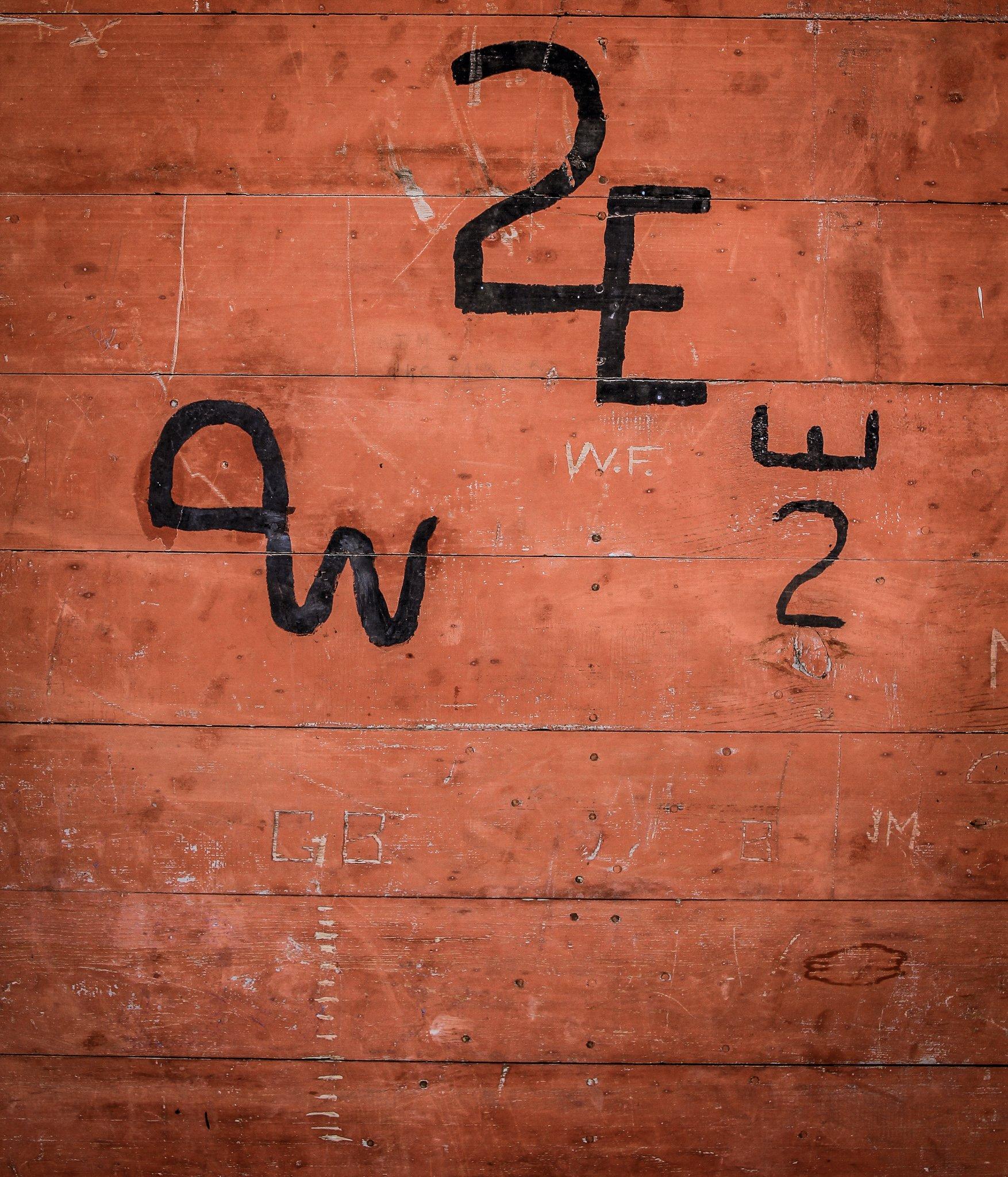 Initials on the HIstoric Barn door